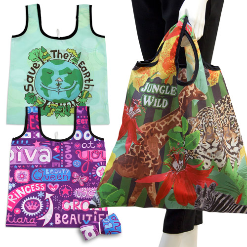 S101004B Sublimation Foldable Shopping Bag with short handles