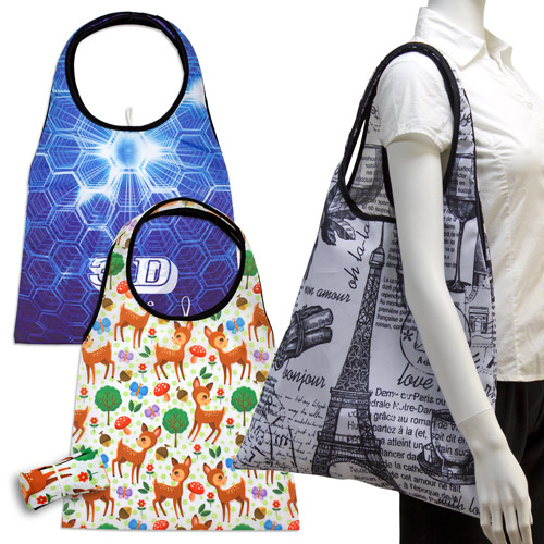 S101009B Sublimation Foldable Shopping Bag with long handles