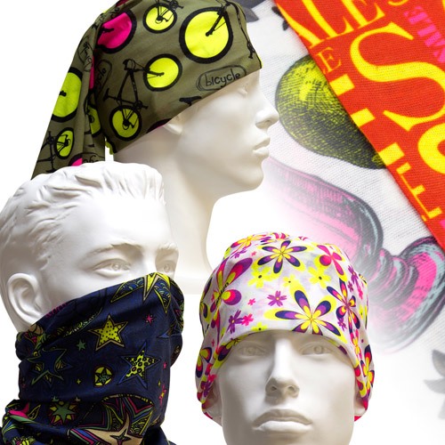 S117005N Functional Headneckers by sublimation of CMYK + Fluorescent Yellow and Magenta
