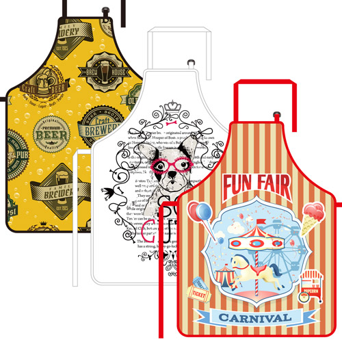 S117070A Sublimation Full-length Cooking Apron made of Soft Polyester Fabric