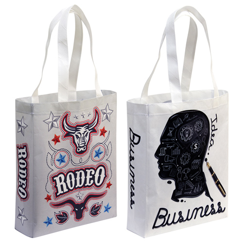 S132012A Medium non-woven shopping bags maximum branding by sublimation