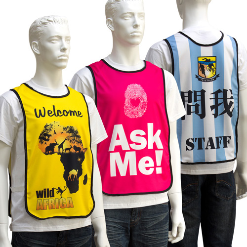 S138003 Polyester Event Bib Vests by Sublimation